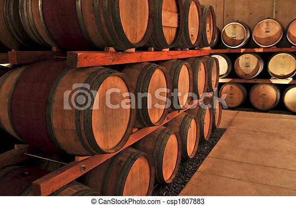 Wine barrels - csp1807883