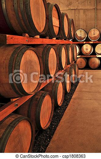Wine barrels - csp1808363