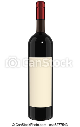 Wine Bottle - red - csp6277543