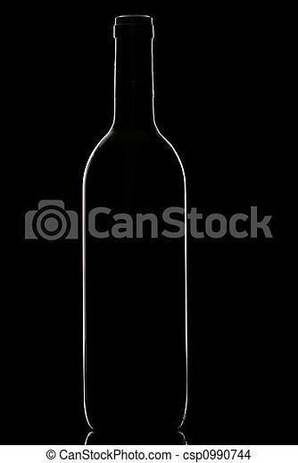 Wine bottle. - csp0990744