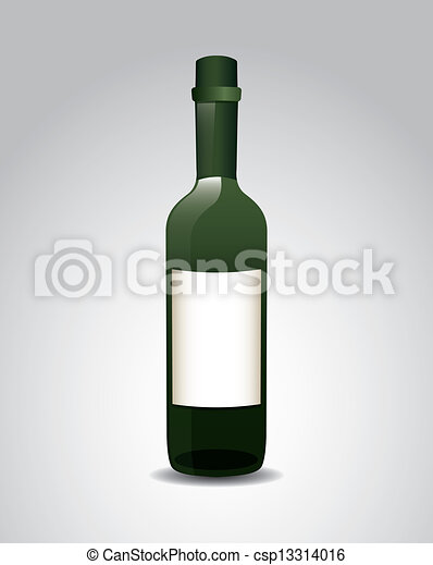 wine bottle - csp13314016
