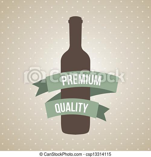 wine bottle - csp13314115