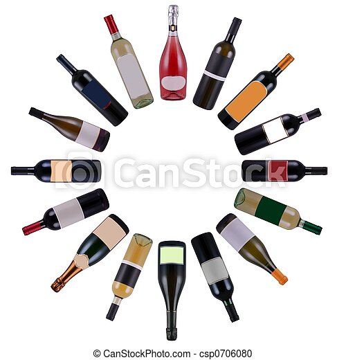 Wine bottles circle - csp0706080