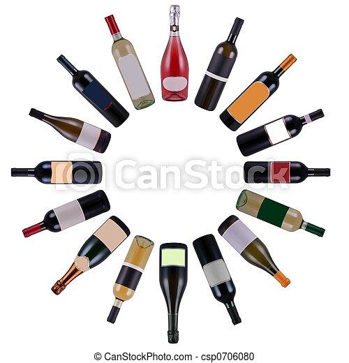 Wine bottles circle - csp0706080