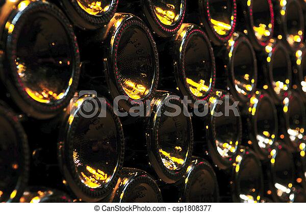 Wine bottles - csp1808377