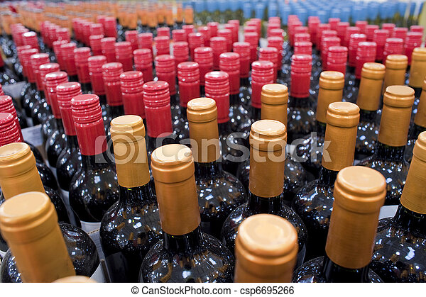 Wine bottles  - csp6695266
