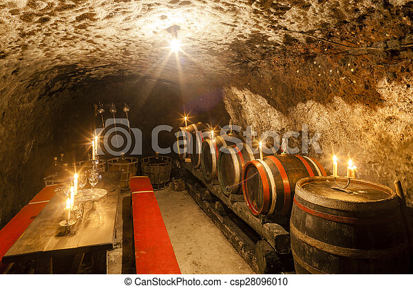 wine cellar in Velka Trna, Tokaj wine region, Slovakia - csp28096010