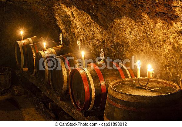 wine cellar in Velka Trna, Tokaj wine region, Slovakia - csp31893012