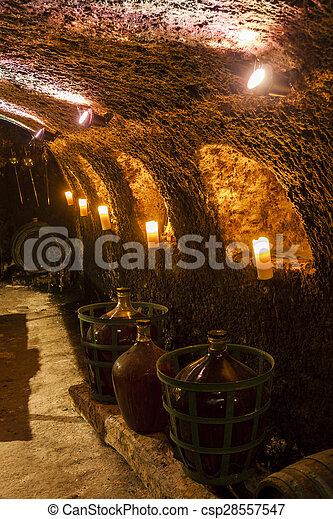wine cellar in Velka Trna, Tokaj wine region, Slovakia - csp28557547