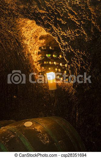 wine cellar in Velka Trna, Tokaj wine region, Slovakia - csp28351694