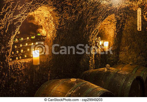wine cellar in Velka Trna, Tokaj wine region, Slovakia - csp29949203