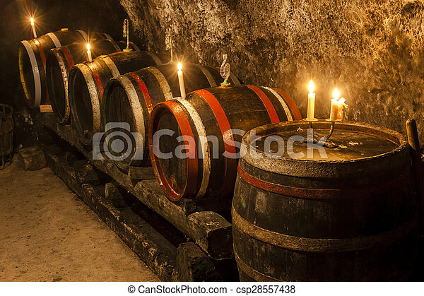 wine cellar in Velka Trna, Tokaj wine region, Slovakia - csp28557438