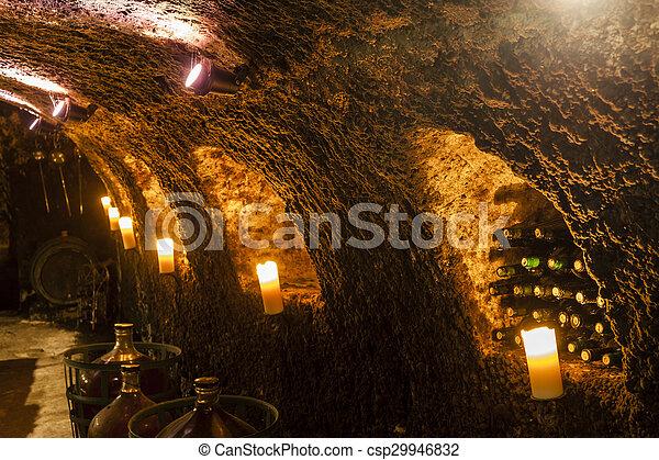 wine cellar in Velka Trna, Tokaj wine region, Slovakia - csp29946832