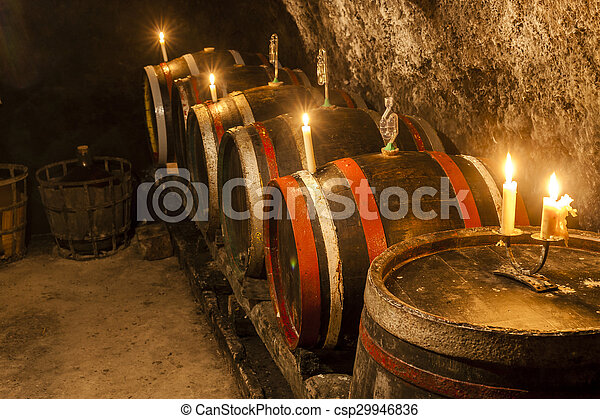 wine cellar in Velka Trna, Tokaj wine region, Slovakia - csp29946836