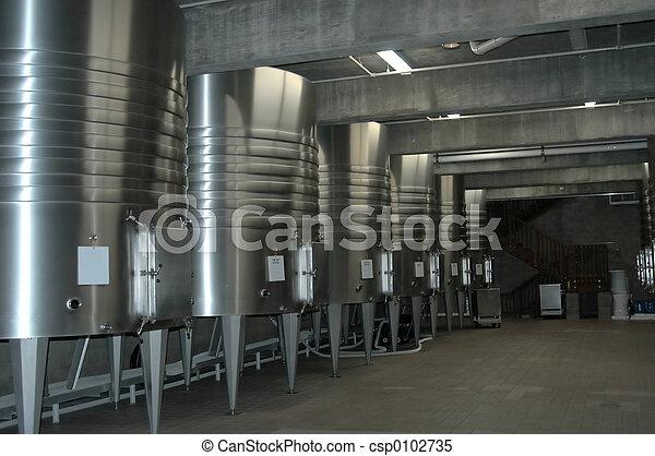 Wine cellar interior - csp0102735