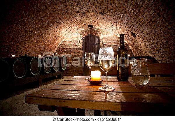 Wine cellar - csp15289811