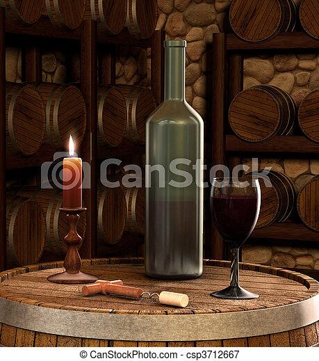 Wine cellar - csp3712667