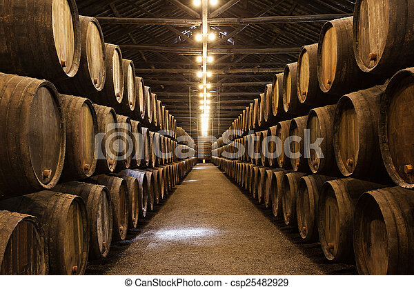 Wine cellar, Porto - csp25482929