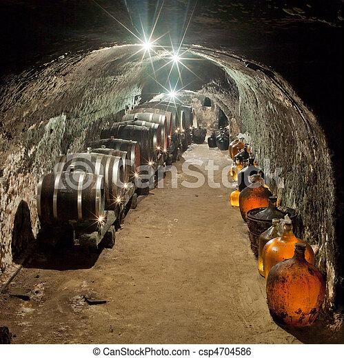 wine cellar - csp4704586