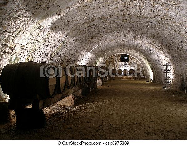 Wine cellar - csp0975309