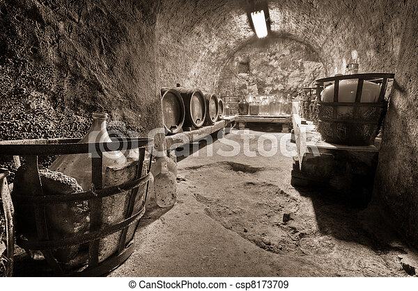 wine cellar - csp8173709