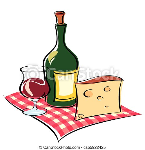 vector image of wine and cheese on napkin clipart vector search rh canstockphoto com