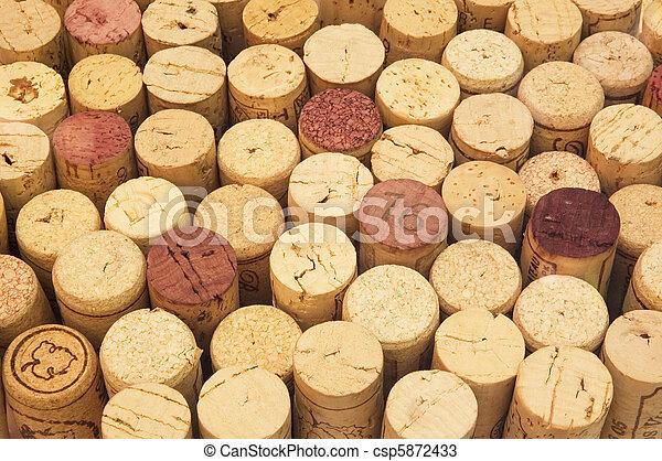 wine cork background - csp5872433