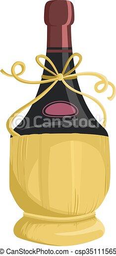 Wine Fiasco Basket Packaging - csp35111565
