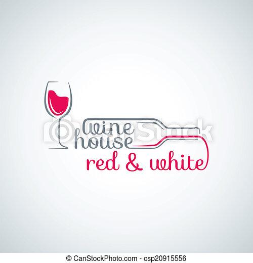 wine glass bottle background - csp20915556