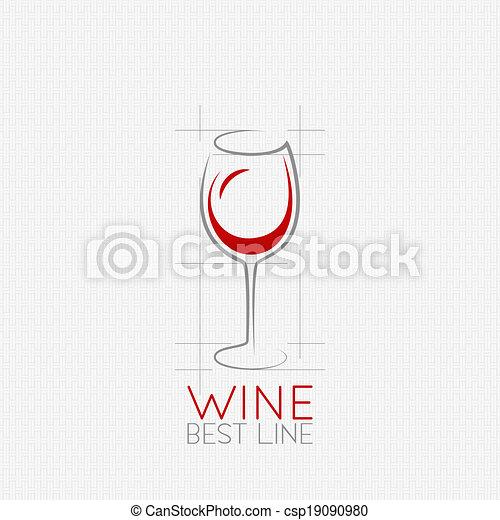 wine glass design background - csp19090980