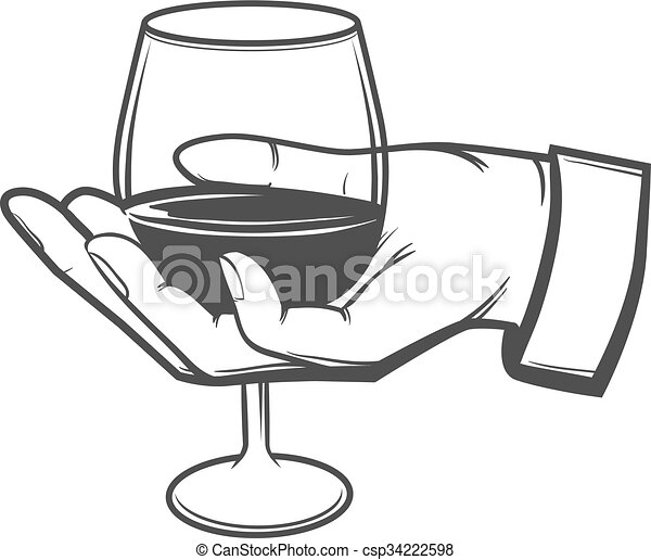Wine glass hold hand hand with a wine glass sommelier eps wine glass hold hand vector ccuart Gallery