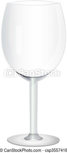 wine glass isolated on white background - csp3557416