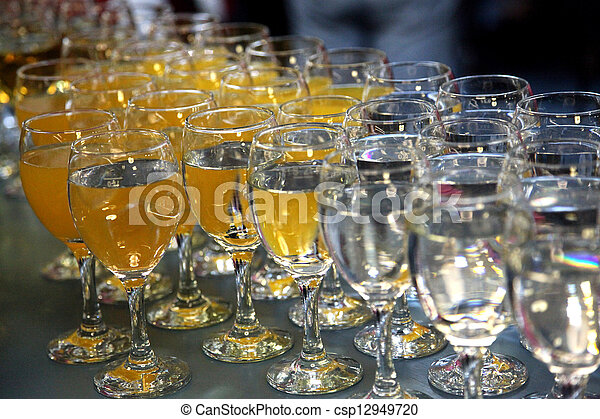 Wine glasses on the table - csp12949720