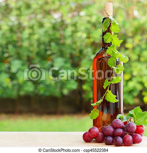 Wine, grape and vineyard - csp45522384