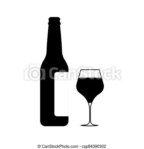 Wine icon Vector Illustration on the white background. - csp84390302