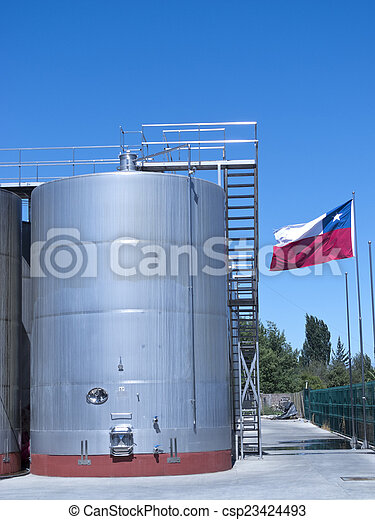 Wine industry in Chile - csp23424493
