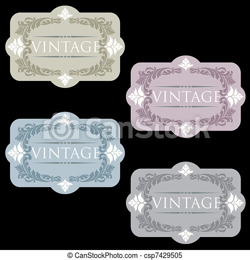 Wine labels template design set clipart vector - Search Illustration ...