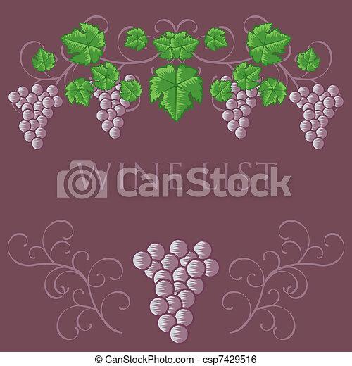 Wine List Cover Design - csp7429516