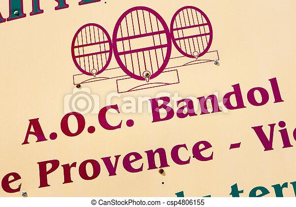 wine region of Bandol, Provence, France - csp4806155