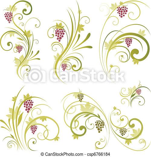 wine scroll shape - csp6766184