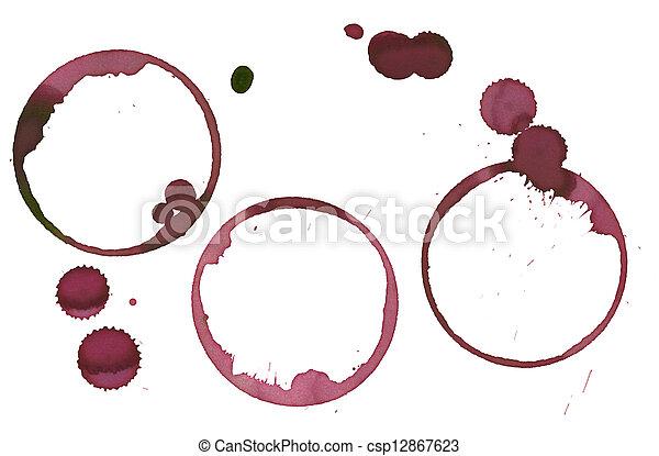 wine stains - csp12867623
