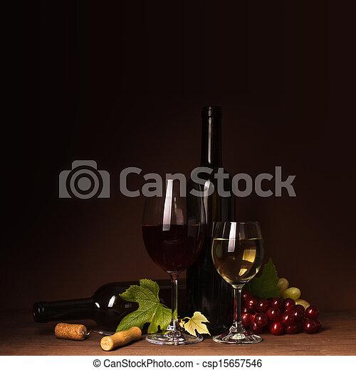 Wine still life - csp15657546