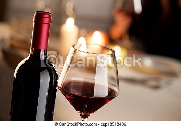 Wine tasting at restaurant - csp18518406