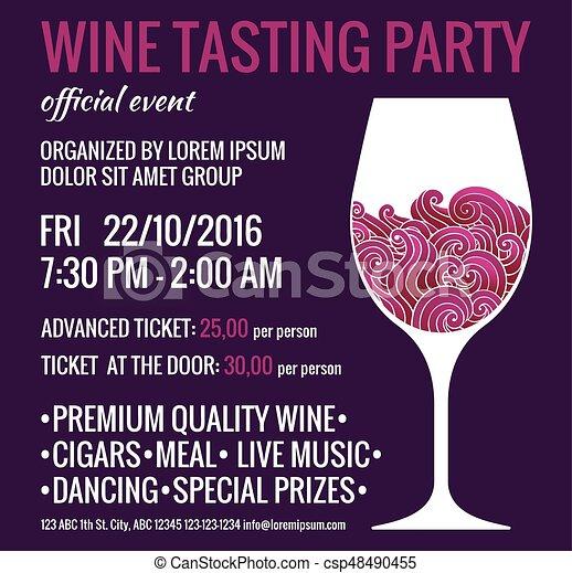 Tasting Flyer Carnavaljmsmusicco - Wine tasting event flyer template free