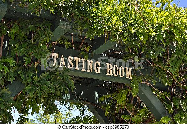 Wine Tasting Room Sign - csp8985270