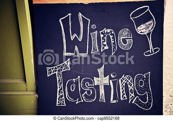 Wine tasting sign - csp9552168