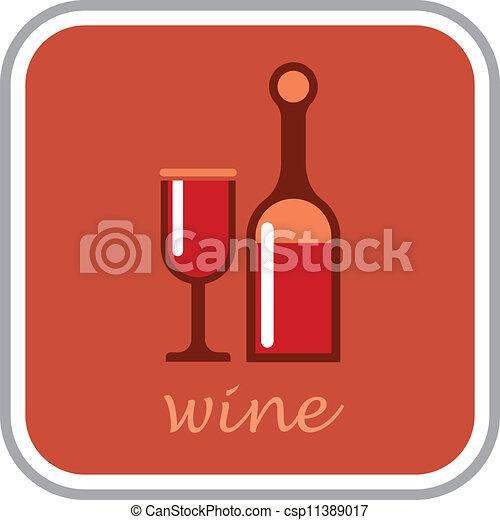 Wine - vector icon - csp11389017