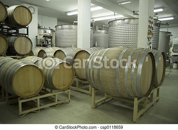 Winery-Barrels and Vats-D2x-44366 - csp0118659