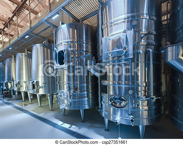 winery with  stell barrels - csp27351661