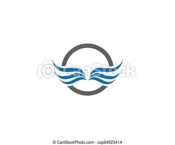 wing logo vector - csp64023414
